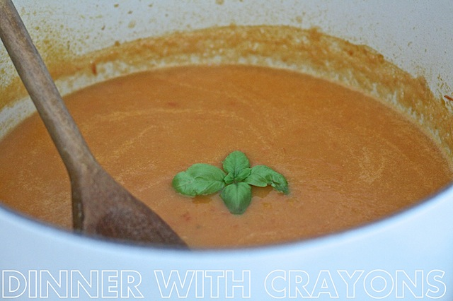 Fridge Bottom Soup using up leftovers at DinnerWithCrayons.com #soup #recipes #thrifty #mealplans