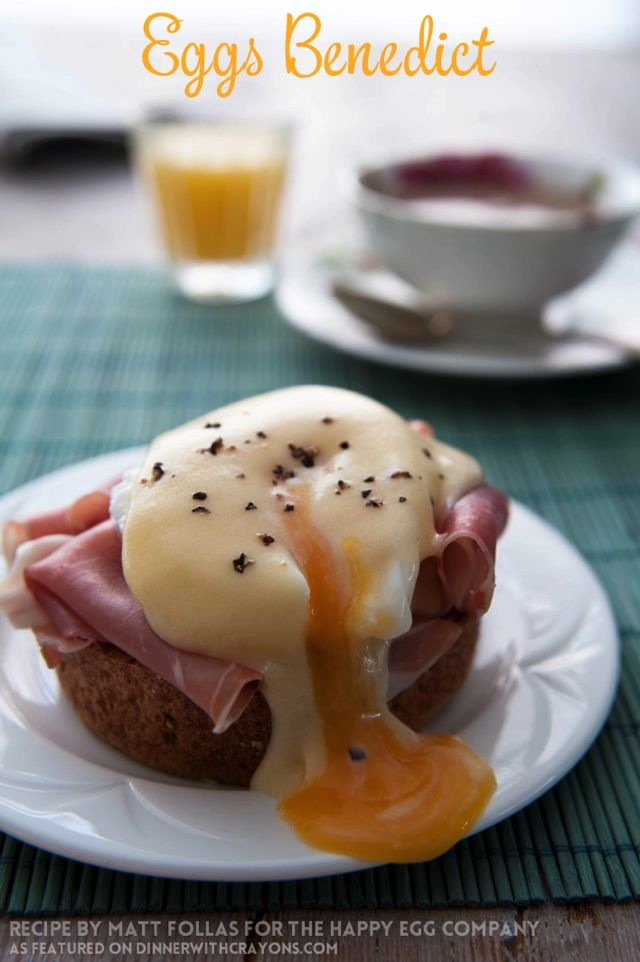 Eggs Benedict Matt Follas Happy Egg Company #breakfast #eggs #eggrecipes